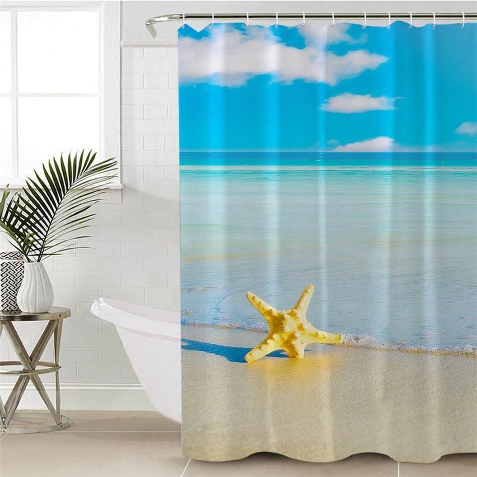 Beach Please Shower Curtain 70 X 86 Bathroom Shower Curtains
