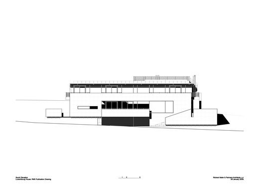 Luxembourg House,South Elevation