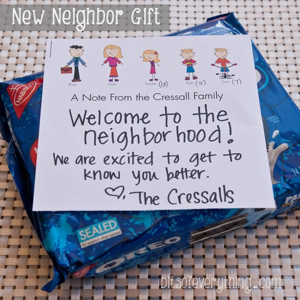 New Neighbor Gift Idea By Bitsofeverythingcom Bits Of Everything