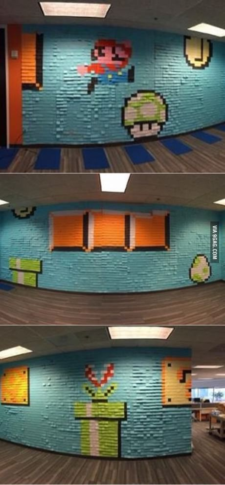 IT team made this in my office out of post-it notes | Note, Video ...