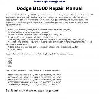 Repairsurge dodge b1500 repair manual the convenient online the online dodge repair manual is quick and easy to use get the repair info you need to fix solutioingenieria Choice Image
