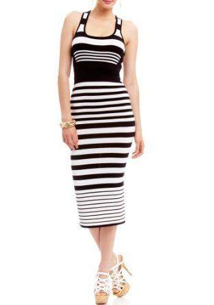 2B Khloe Stripe Bandage Midi Dress $44.95
