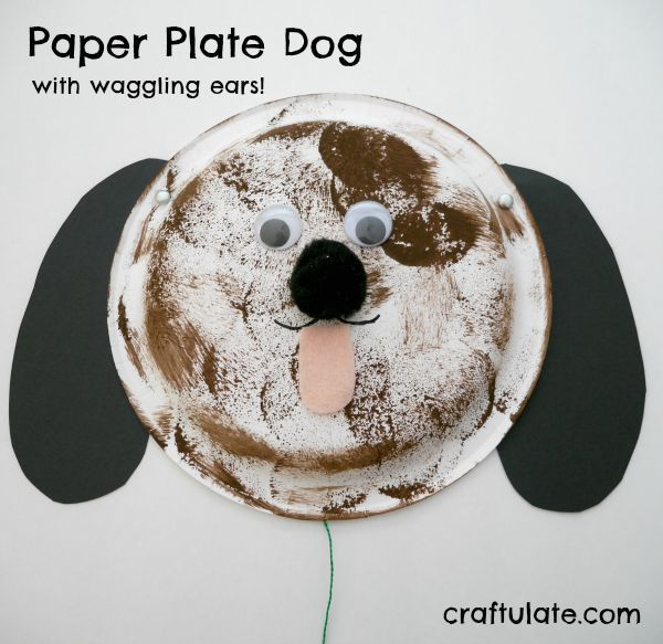 Paper Plate Dog for kids! Simple animal craft for preschool & Paper Plate Dog | Animal crafts Dog and Animal