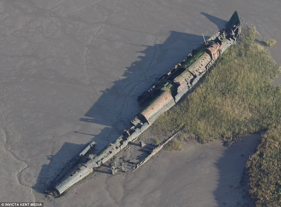 Ww1 U Boat Exposed By Extreme Low Tides  Not Been Seen For