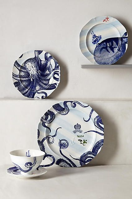 From The Deep Dinner Plate & From The Deep Dinner Plate | Side plates Salad plates and Kitchen ...