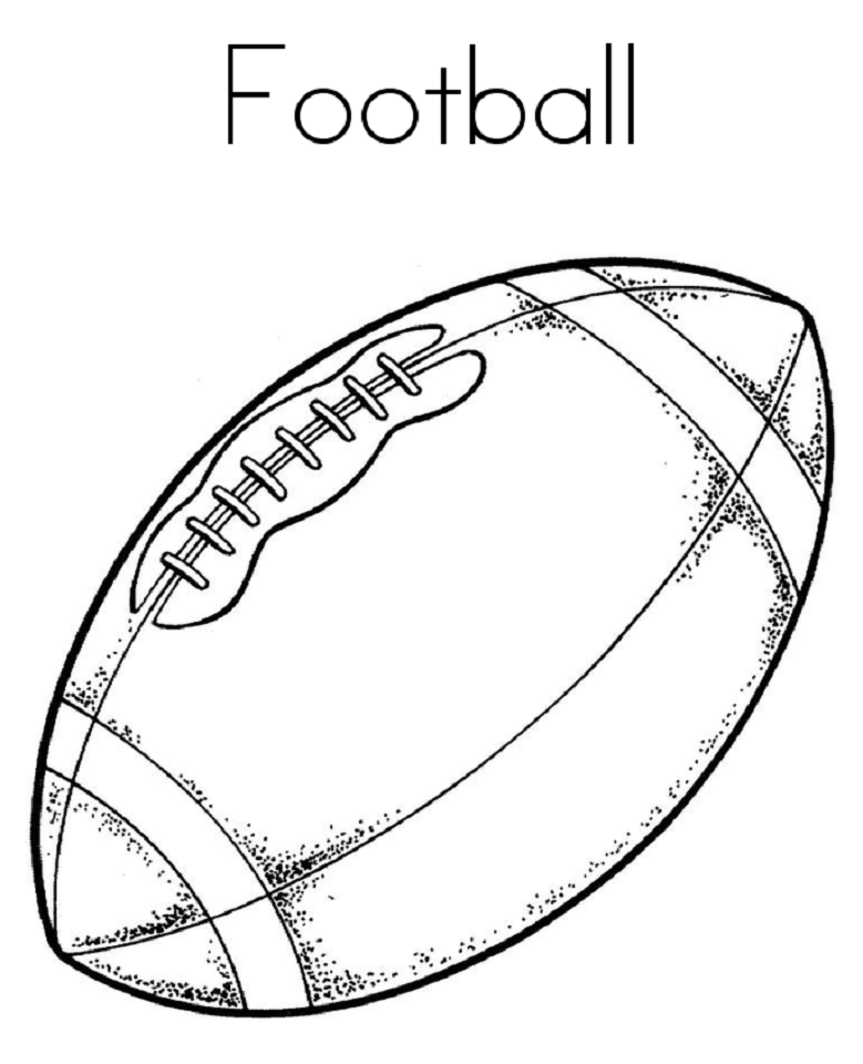 Football Coloring Pages For Preschoolers Football Coloring Pages,  Valentine Coloring Pages, Sports Coloring Pages