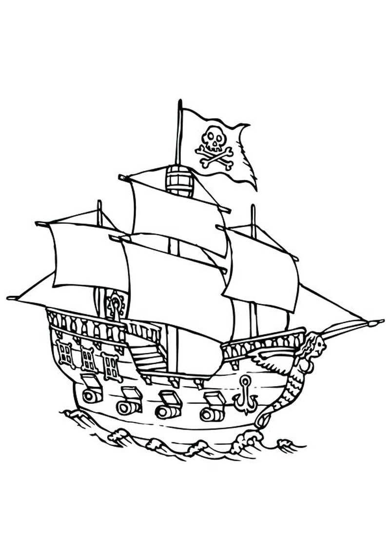 Printable Boat Coloring Pages Coloring Pages Pirate Boats Coloring Pages Inspirational