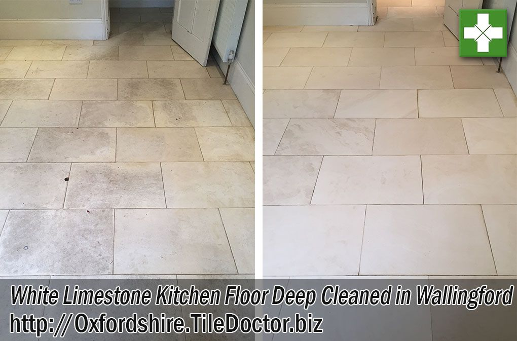 Photographs Below Of A White Limestone Tiled Kitchen Floor At A House In  Wallingford That Was Proving Difficult For The Owner To Clean Effectively.