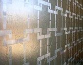 Wall Stencil Harlequin Trellis - reusable stencils for walls instead of wallpaper-DIY decor. $39.95, via Etsy.