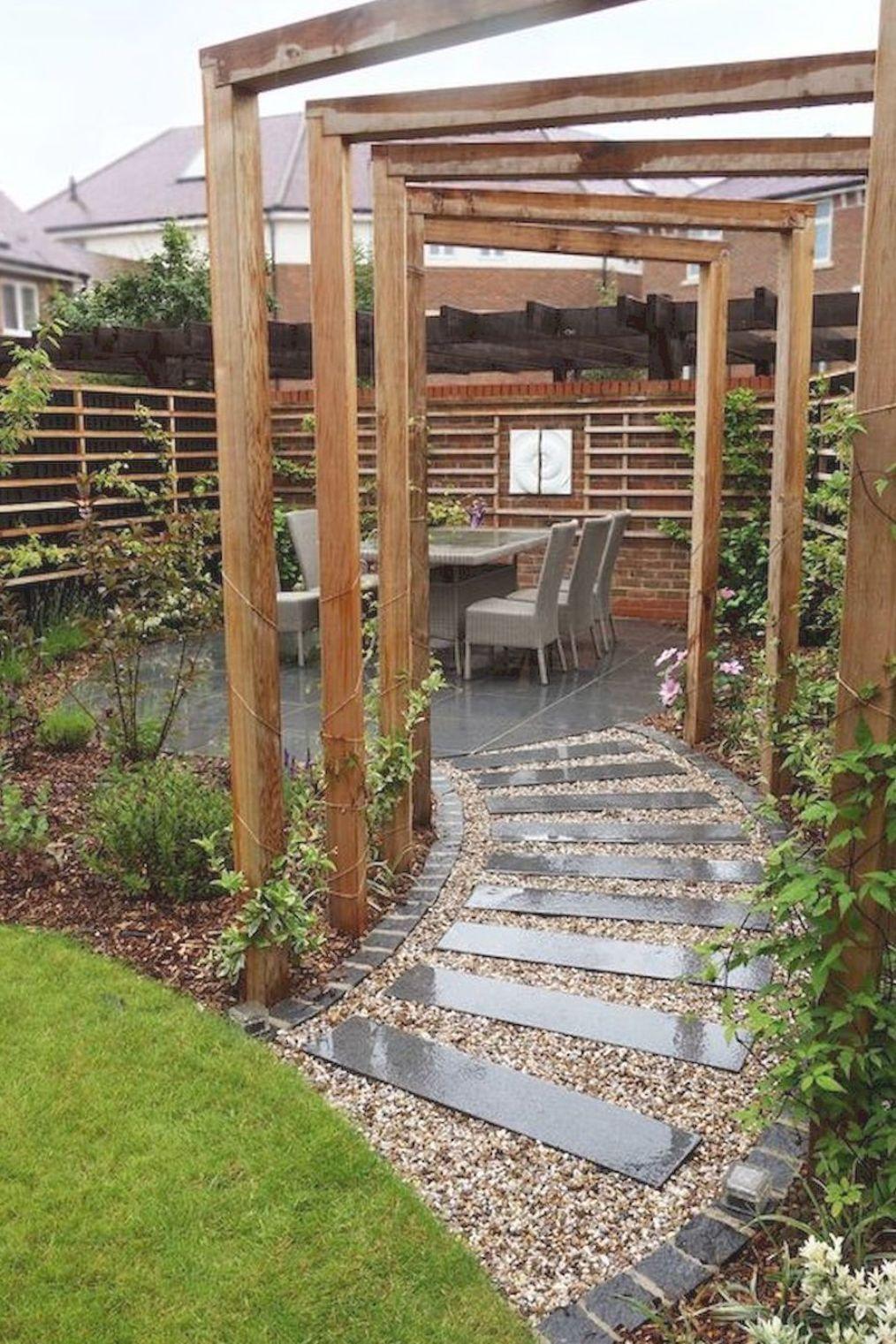 Like the walkway...long narrow concrete in 2020 | Small ... on Long Narrow Backyard Landscaping Ideas id=41458