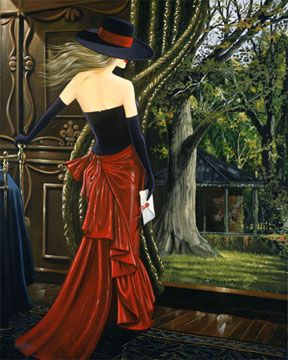 Secret Garden | Victor Ostrovsky The ability to know if you're not being followed is the most fundamental of skills for a case officer. Being in a Secret Garden is arriving for a meeting knowing you aren't under surveillance. The spy in this painting is in her Secret Garden. But despite her counter surveillance efforts, she is being watched from the trees.