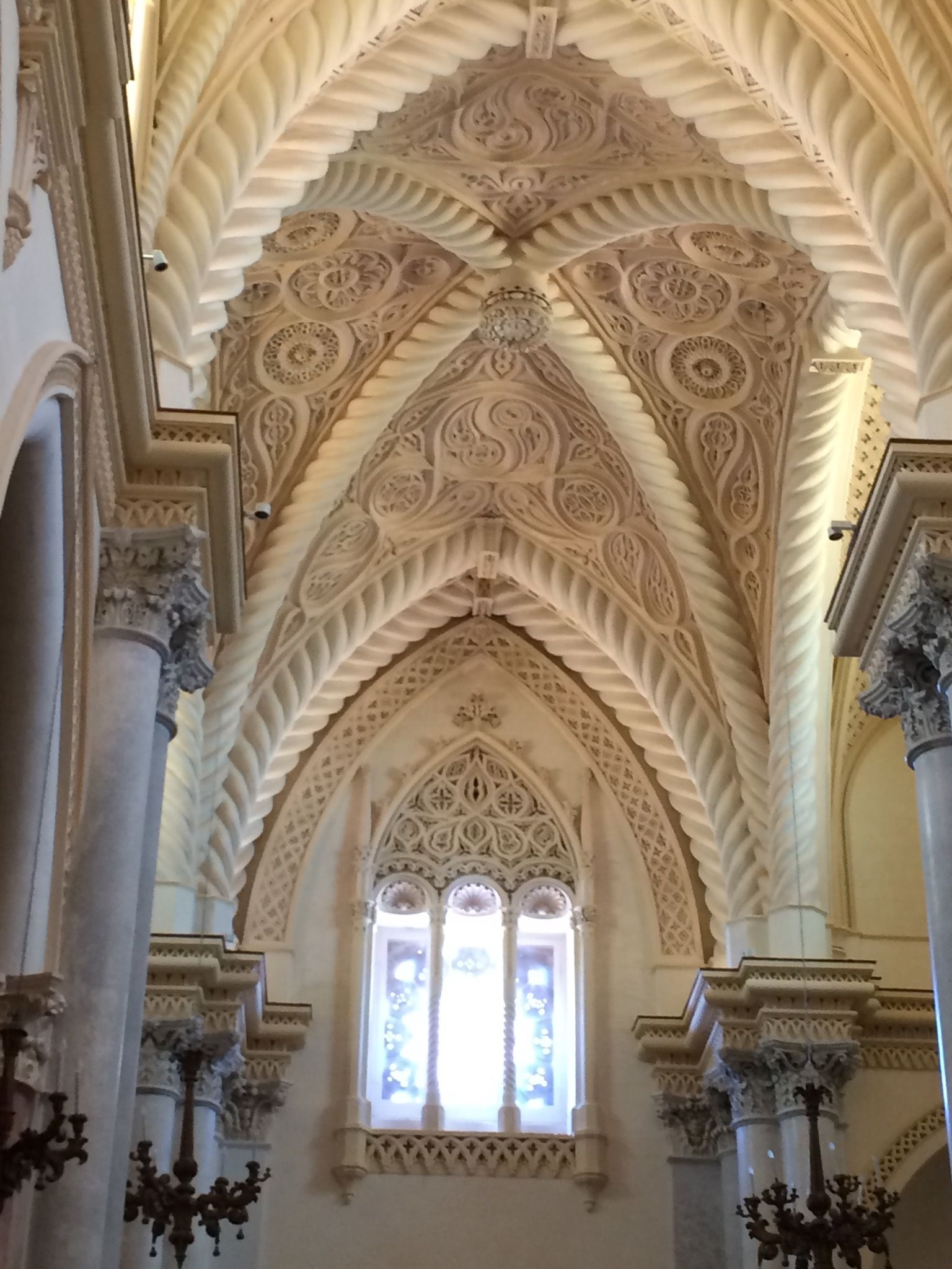 Real Duomo Royal Cathedral Erice Interior Reconstructed In Neo Gothic Style Circa 1835