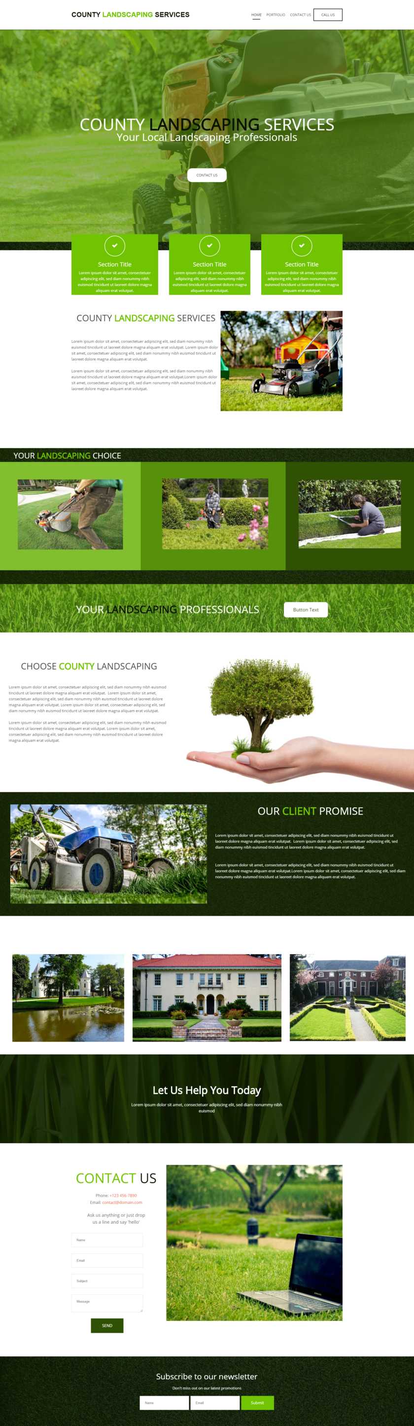 Landscaping Website Design Idea This Landscaper Business Website Template Is Availab Business Website Templates Web Template Design Website Design Inspiration