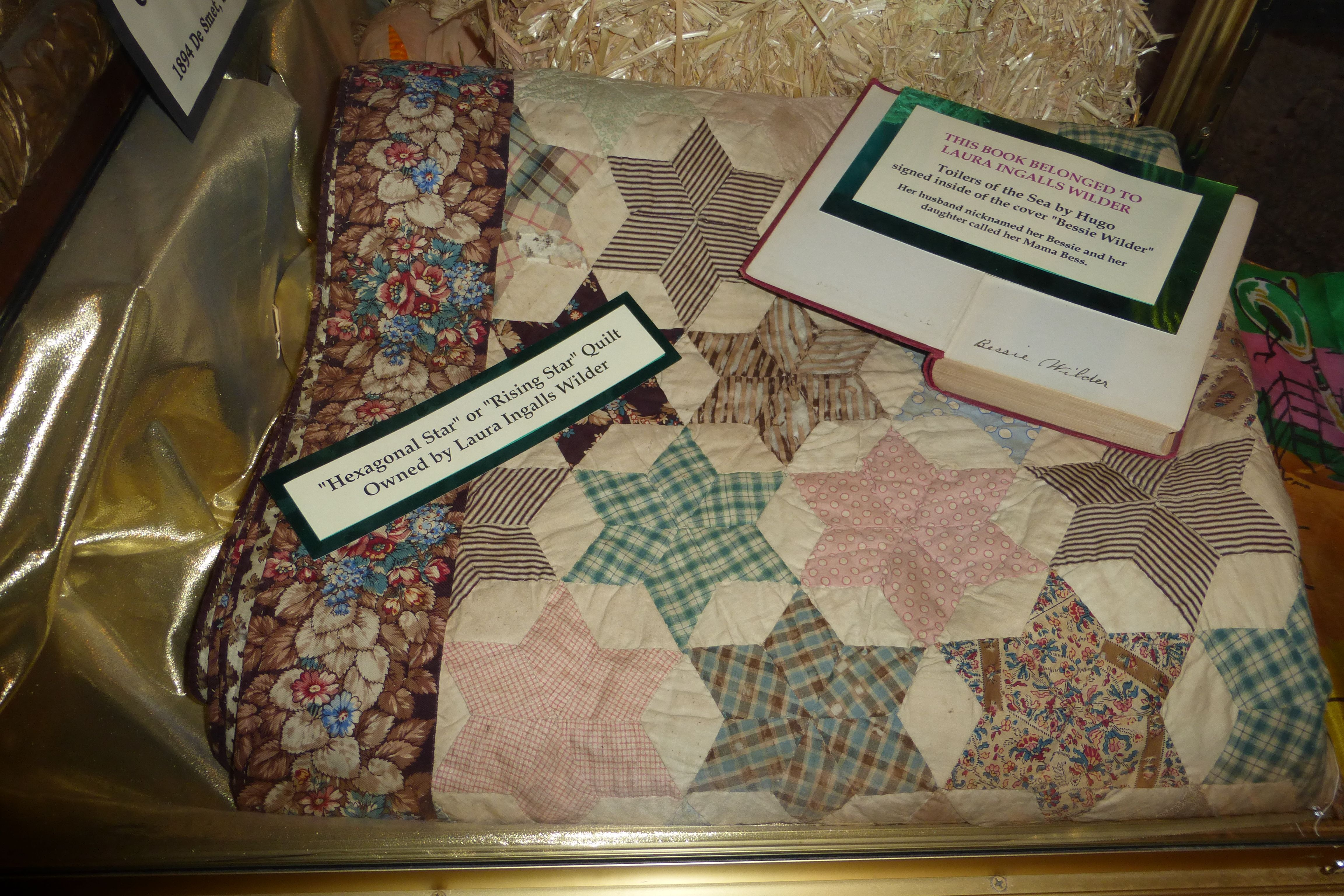 Quilt owned by Laura Ingalls Wilder. In the Laura Ingalls Wilder ...