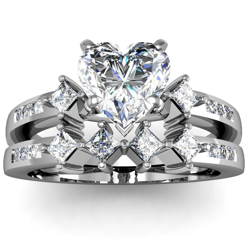 WEDDING RINGS Engagement Ring Heart Shaped Diamond