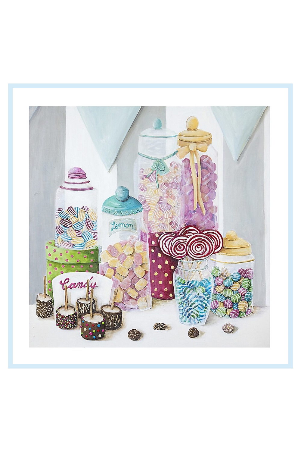 Canvas Candy   Candy Shop Treats Canvas Wall Art - Add a sweet touch to your decor with the Candy Shop Treats Canvas Wall Art from Canvas Candy. Colorful and stylish, the design of all the delicious chocolate and candies turn any wall into a focal point. Wrapped canvas is easy to wall mount. - living room decor