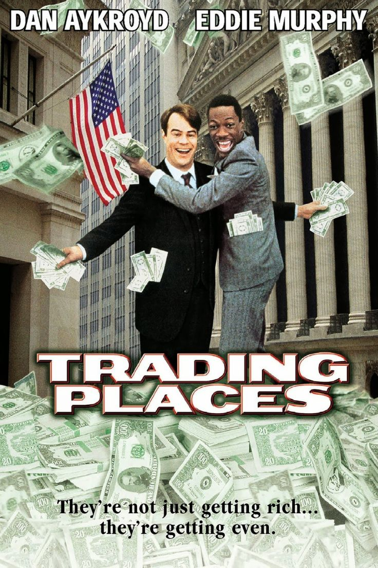 Trading Places A Philly Classic Eddie Murphy And Dan Ackroyd At Their Funniest And A Complete New Turn For Jamie L Trading Places Funny Movies Eddie Murphy