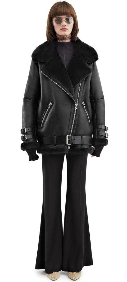 6620fe2afcac9 Acne Studios Velocite Black Shearling jacket