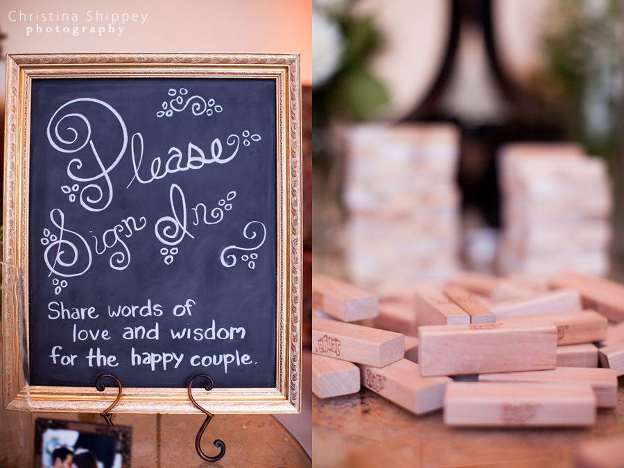 Cute Guest Book Idea Guests Sign A Jenga Piece
