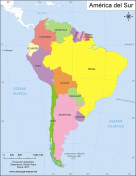 Mapa América Del Sur.Mapa De America Del Sur Politico Mapa De America Mapa