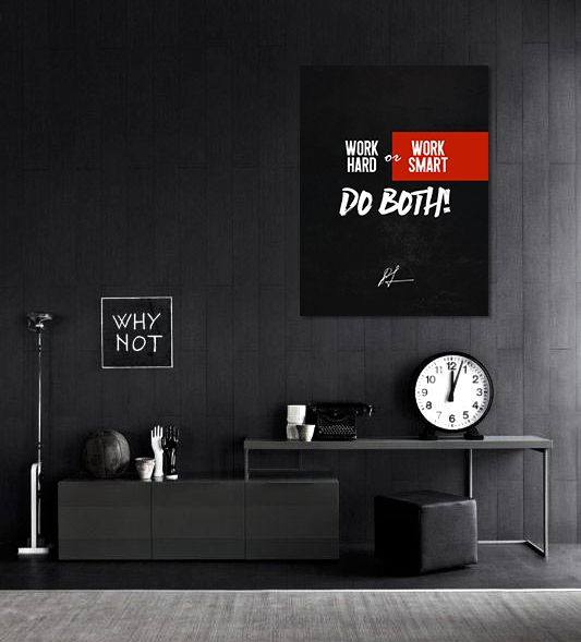 Motivational inspirational canvas wall art prints paintings entreprenuers quotes house office decor furniture posters for hustlers