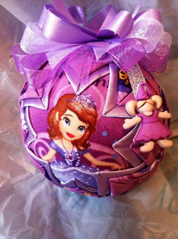Disney Inspired Sophia the First Quilted Christmas Ornament on Etsy, $18.00