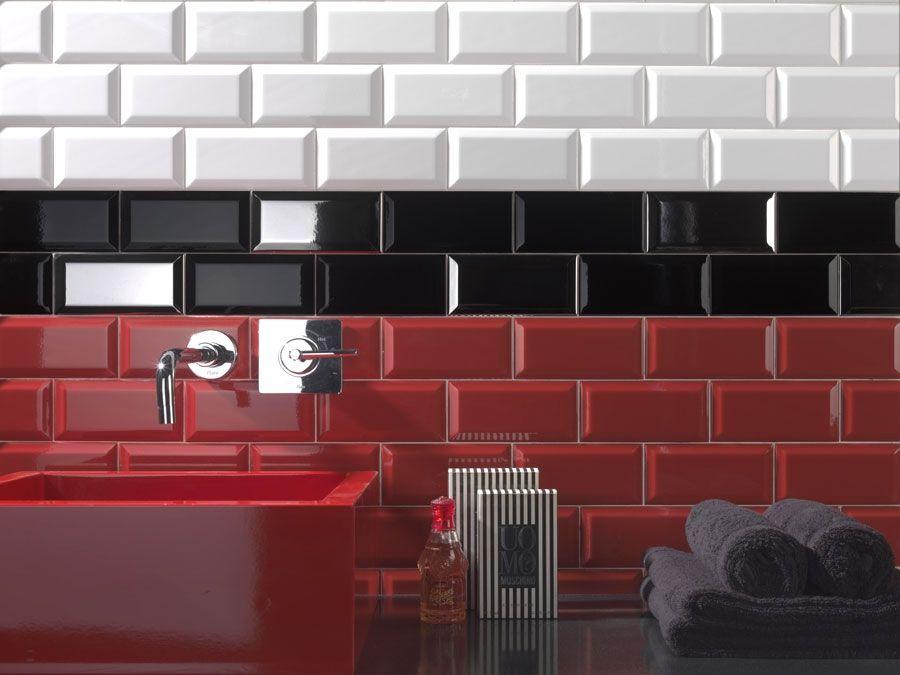 carrelage metro 7 5x15 haut de gamme rouge noir blanc 1erchoix epaisseur 9mm trucs pour la. Black Bedroom Furniture Sets. Home Design Ideas