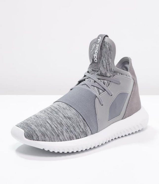 Adidas Originals TUBULAR DEFIANT Baskets montantes grey/core white prix  promo Baskets femme Zalando 120.00