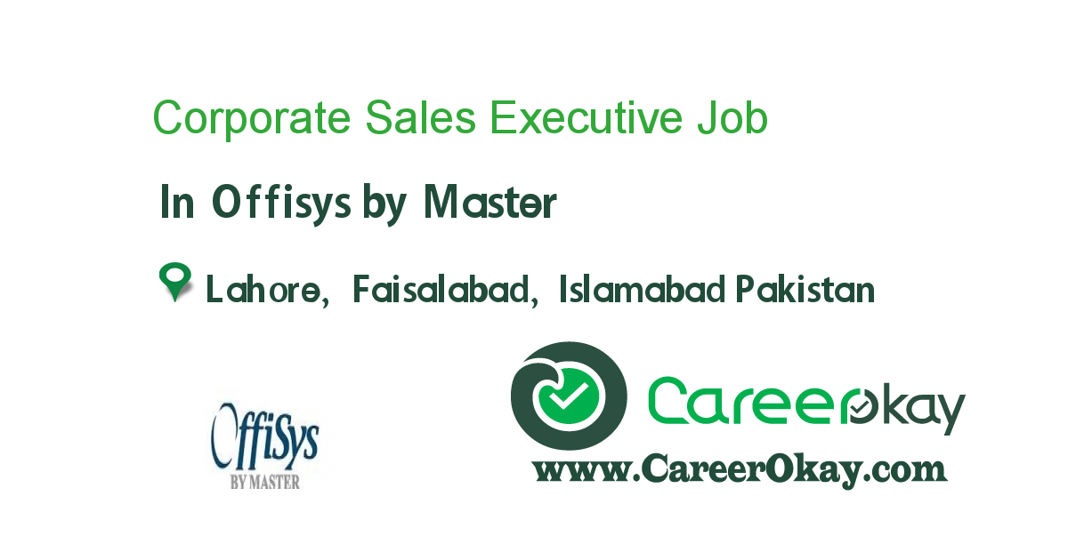 Corporate Sales Executive  Jobs In Pakistan