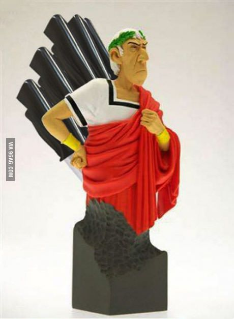 Julius Caesar Pencil Holder Interesting Julius Caesar Knife Holder  Knife Holder Laughter And Humor Review