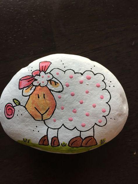 DIY Easy Animal Painted Rocks Ideen, schöne Maler Steinkunst für Anfänger zu machen ... #animal #ideen #maler #painted #paintingartideas #rocks #schone #steinkunst #steinebemalenanleitung