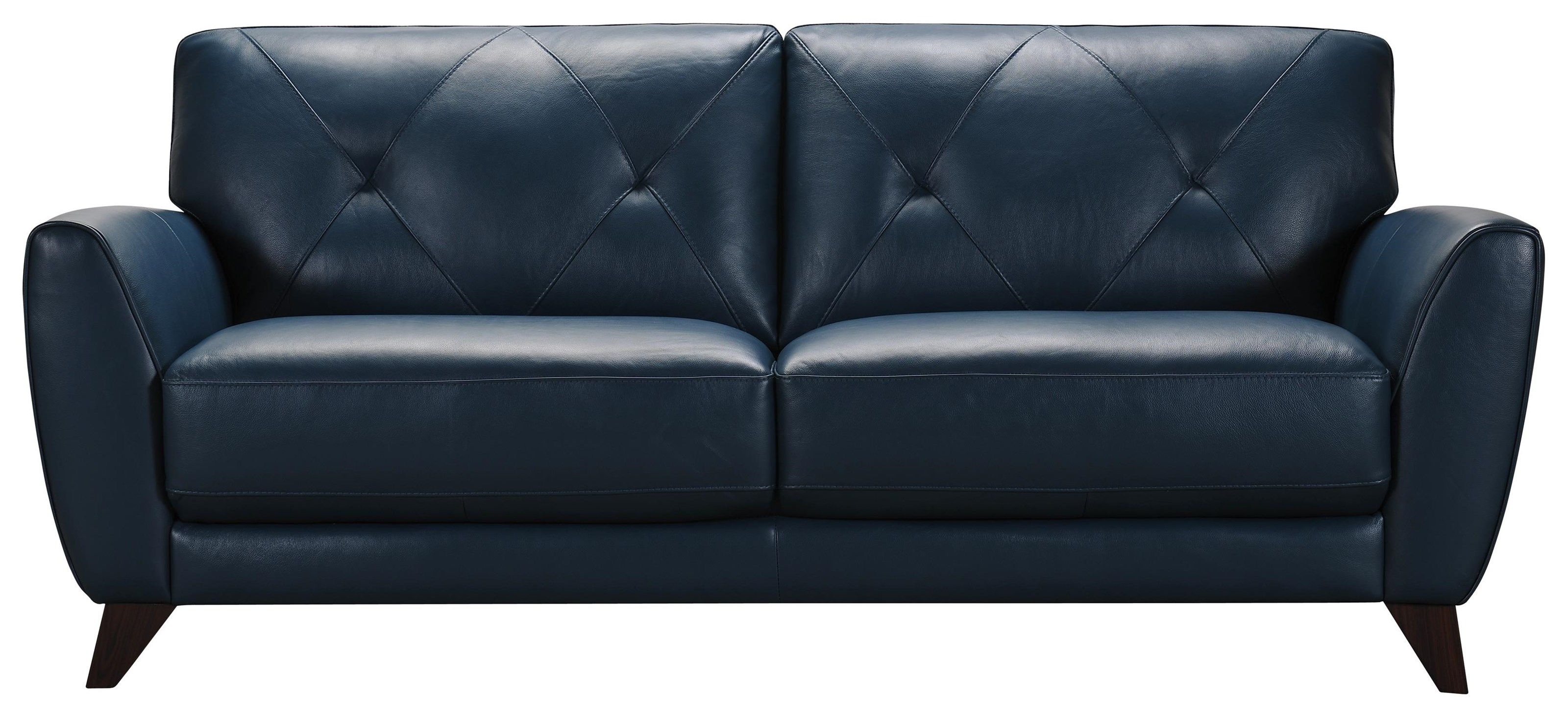 Best 3159 Peacock Blue Leather Sofa By Violino Blue Leather 400 x 300