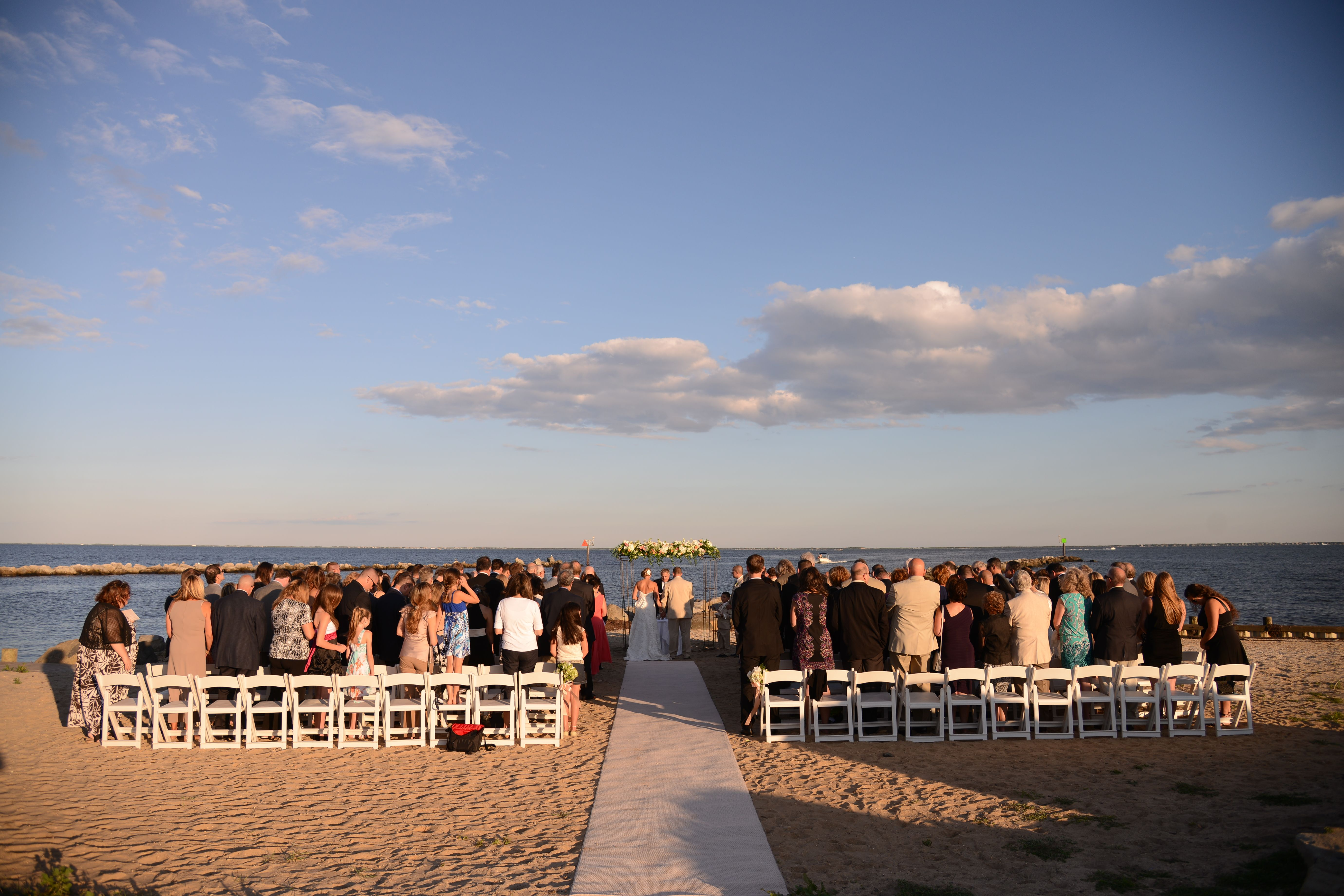Lands End Beach Ceremony Overlooking The Great South Bay Long Island Wedding Venue