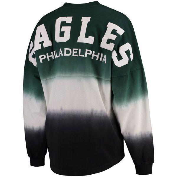 85960028 Philadelphia Eagles NFL Pro Line by Fanatics Branded Women's Spirit Jersey  Long Sleeve T-Shirt - Midnight Green/Black