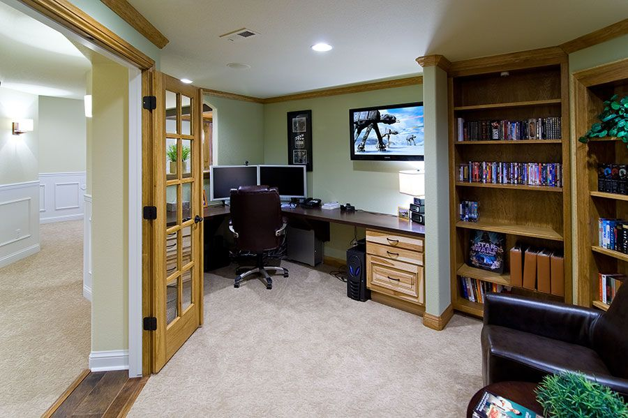 Basement Office Home Office Layouts Modern Home Offices Modern