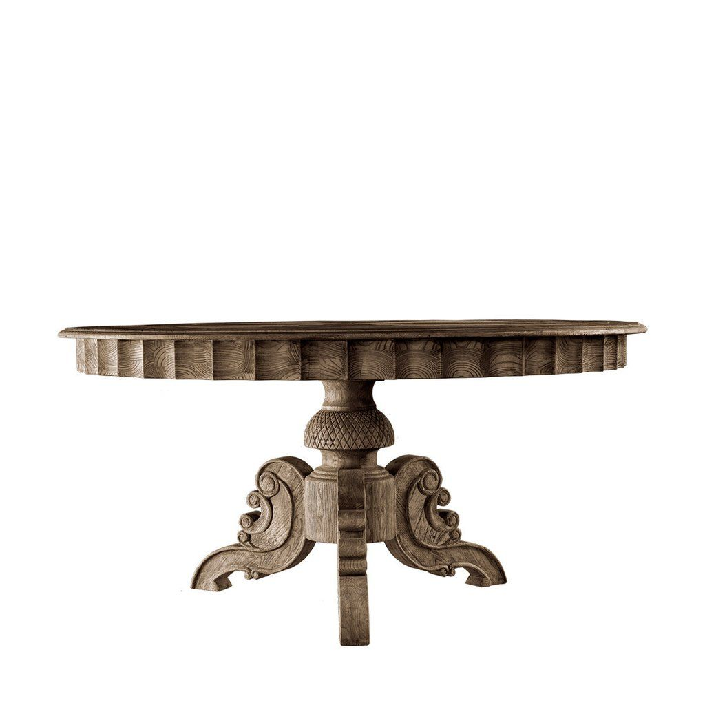 Curations Limited 55 Quot French Round Table Round Pedestal