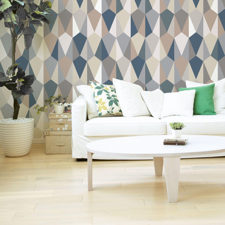 Modern Wallpaper For Living Room Emerald Wallpaper Non Woven Wallpaper Blue Gray Geometric Canvas