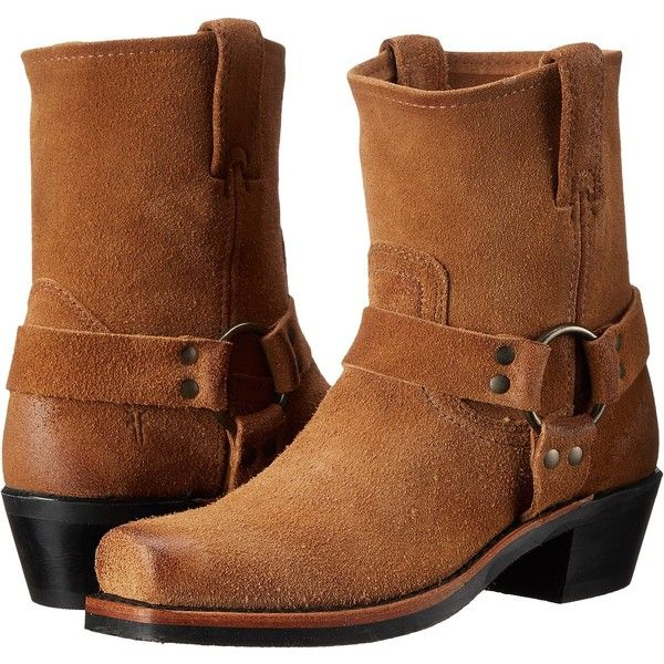 Frye Harness 8R (Tan Oiled Suede) Women's Pull-on Boots ($135) ❤ liked on  Polyvore featuring shoes, boots, knee-high boots, tan, knee high platform  boots, ...