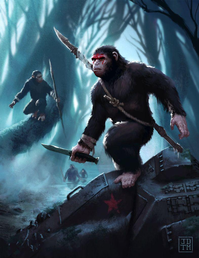 Hunters By Johnnymorrow Deviantart Com On Deviantart Planet Of The Apes Star Wars Fan Art Character Art