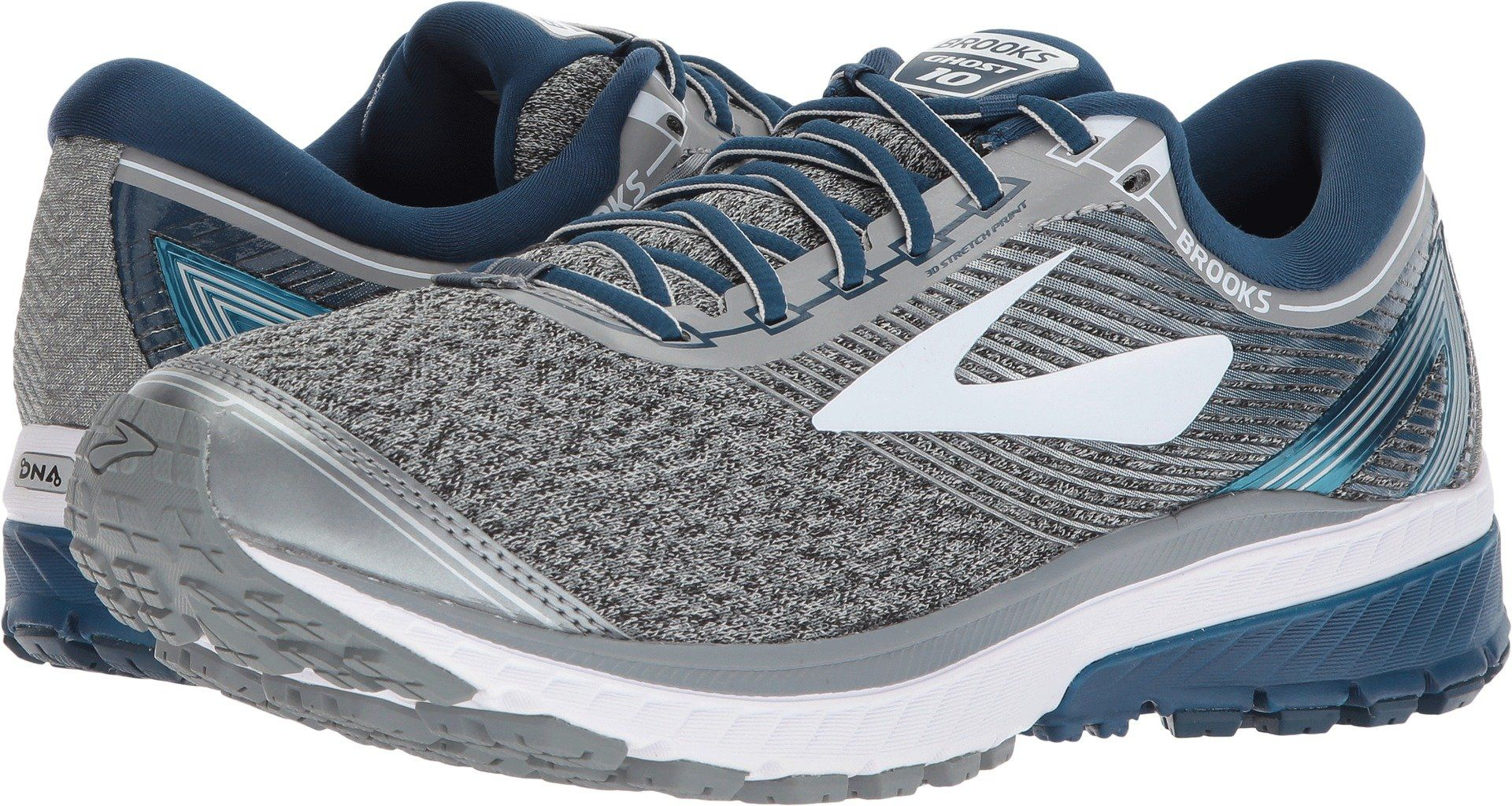 d4c5a9e0b25ff Brooks Mens Ghost 10 Silver Blue White 11.5 D US    More info could be  found at the image url. (This is an affiliate link)