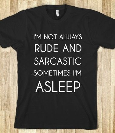 Mad Over Shirts Im not Always Rude and Sarcastic Sometimes Im Asleep Unisex Premium Racerback Tank top