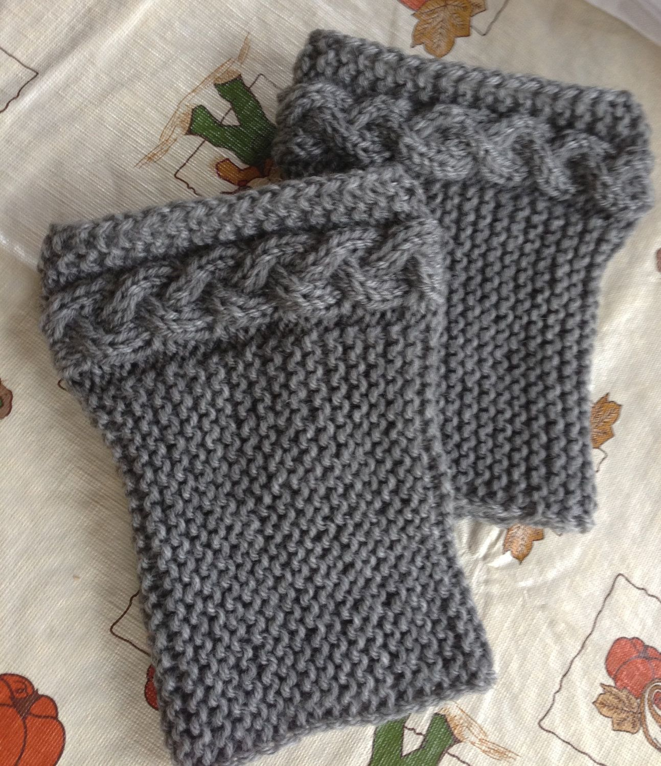 Braid Cable Grey Boot cuffs, Boot socks | Gray boots, Cable knitting ...