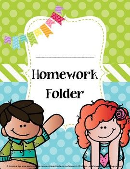 homework folder cover back to school homework folder labels holiday homework homework. Black Bedroom Furniture Sets. Home Design Ideas