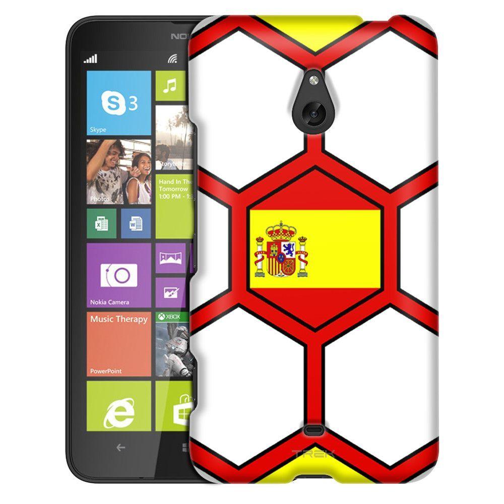 Nokia Lumia 1320 Soccer Ball Spain Flag Slim Case