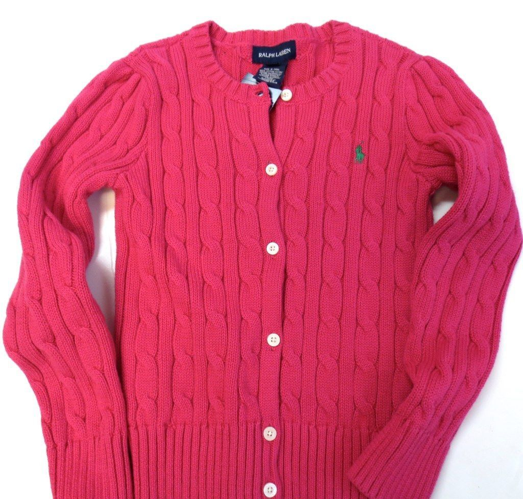 Sweaters 51582: Raplh Lauren Polo Girls Sweater Size 6X Kids Cable ...