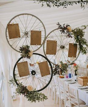 1001 id es de plan de table original pour votre mariage - Velo decoration ...