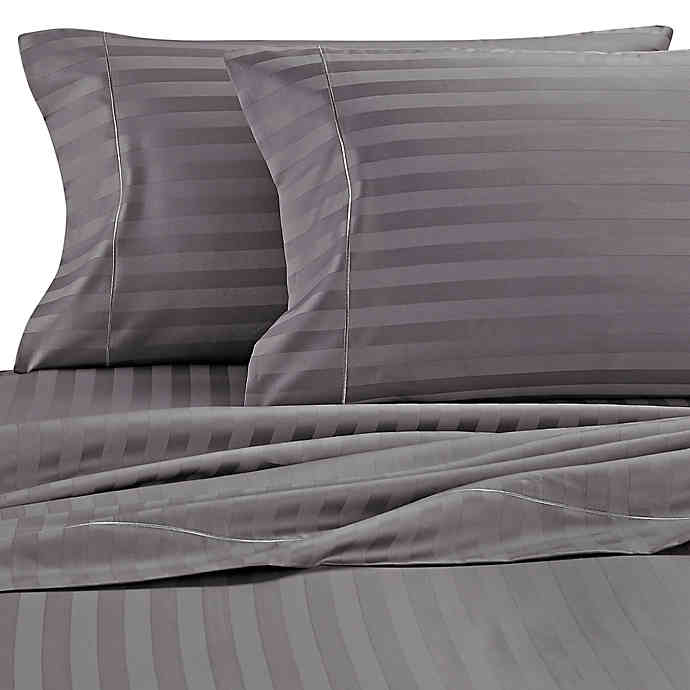 Wamsutta® Damask Stripe 500 Thread Count PimaCott® Cotton Sheet