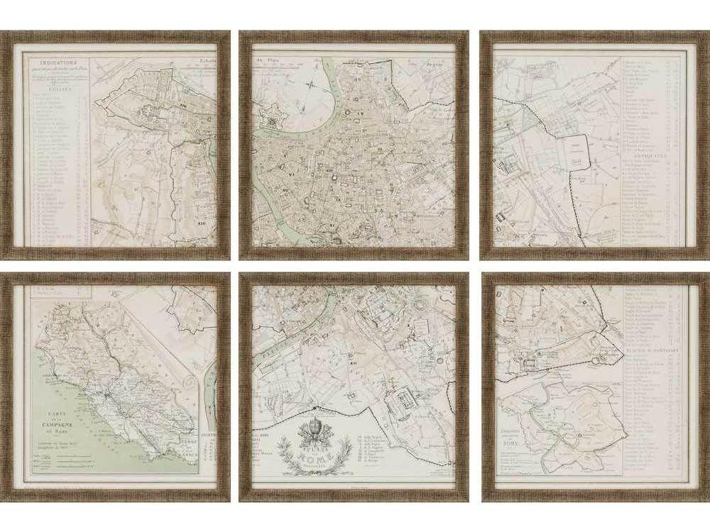 Paragon Benoist Rome Giclee Painting (Six-Piece Set)