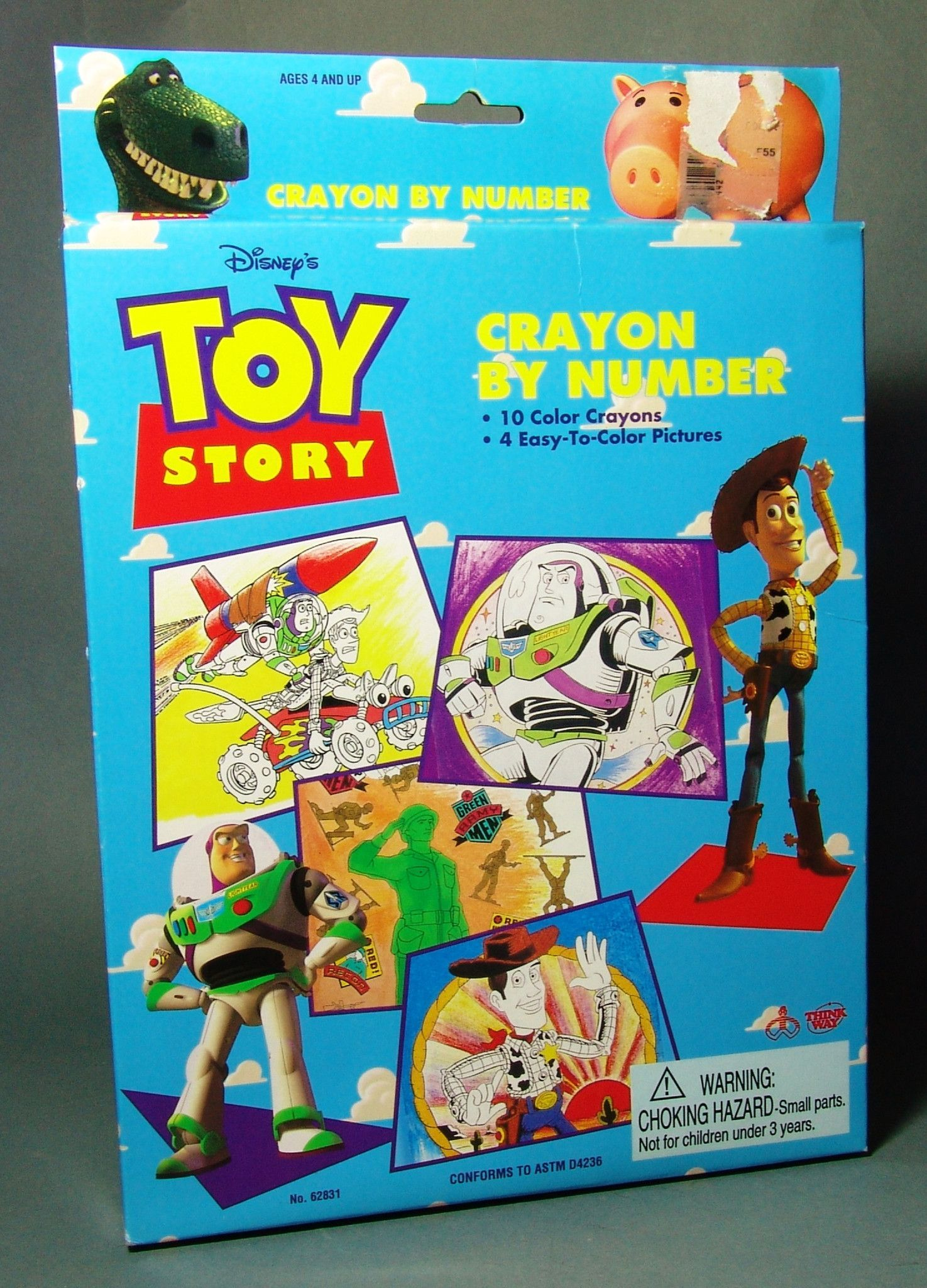 Toy Story Crayon By Number | Toy Story First Release Toys ...