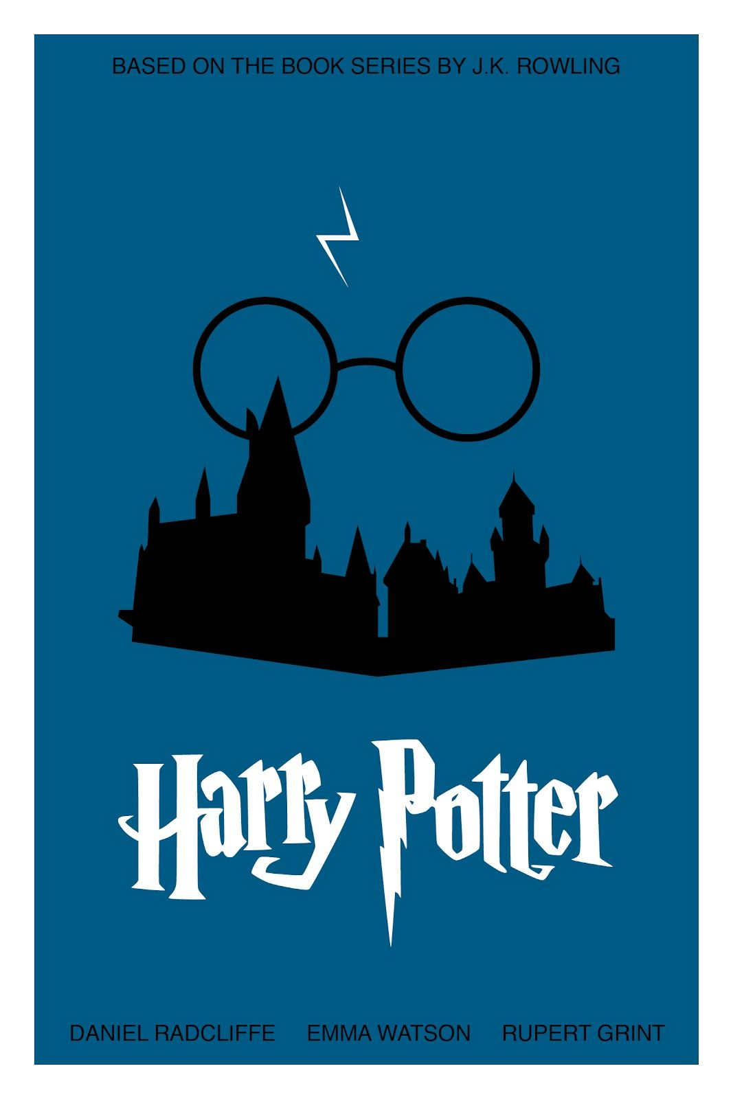 Book series poster harrypotter minimalist posters for Minimal art book